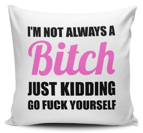 I'm Not Always A Bitch Funny Rude Cushion Cover